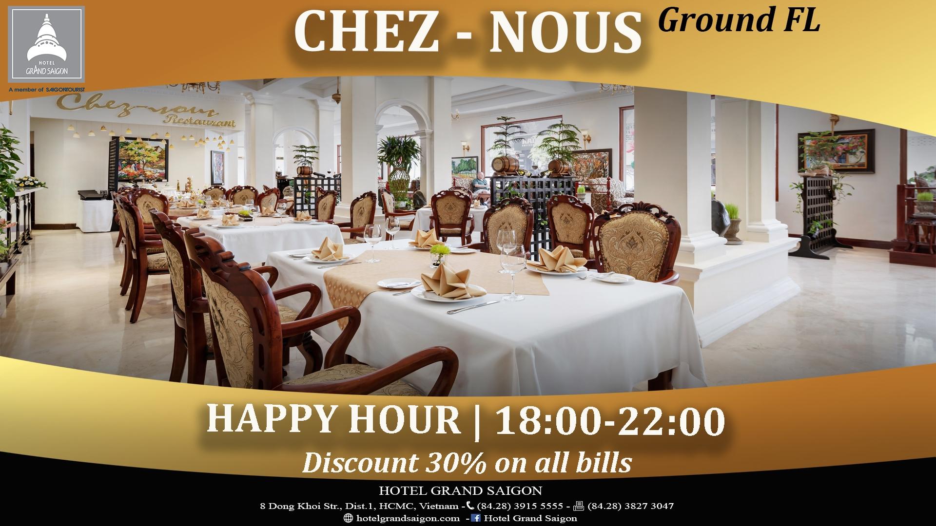 Signboard_Cheznous Happy Hour